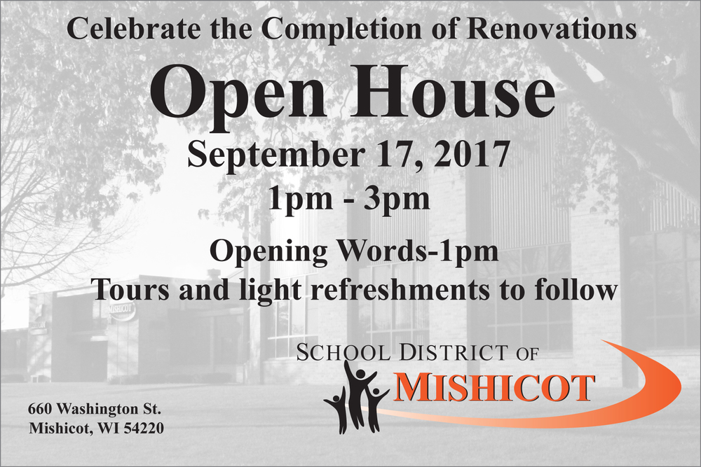 New Facilities Open House-Sunday, September 17 from 1:00pm-3:00pm