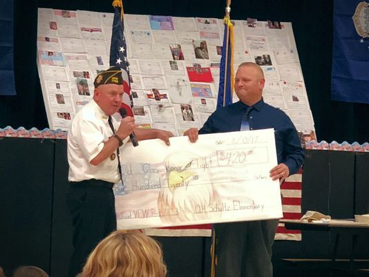 OHS Elementary raises funds for Old Glory Honor Flight
