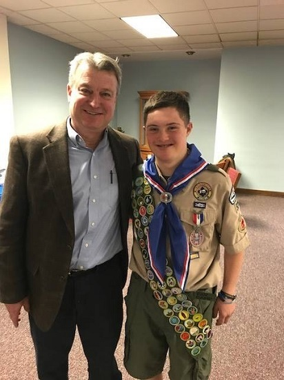Area Boy Scout with Down Syndrome earns Eagle Scout with life-saving project