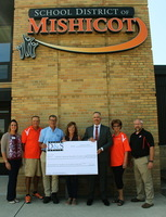 Mishicot High School received $100,000 in new Haas manufacturing equipment from D&S Machine in Luxemburg