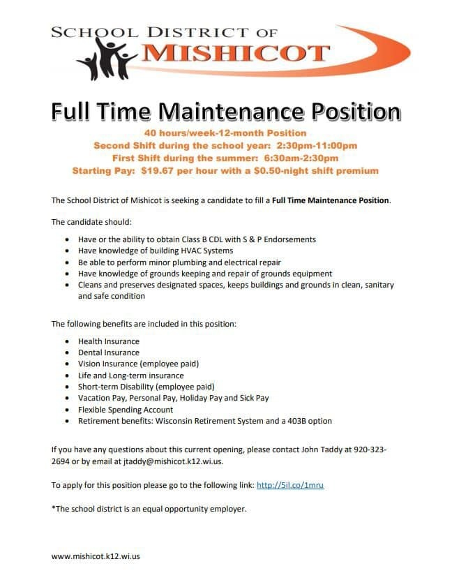 Full Time Maintenance Position