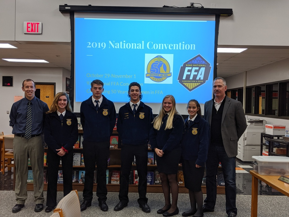FFA presentation to board of education