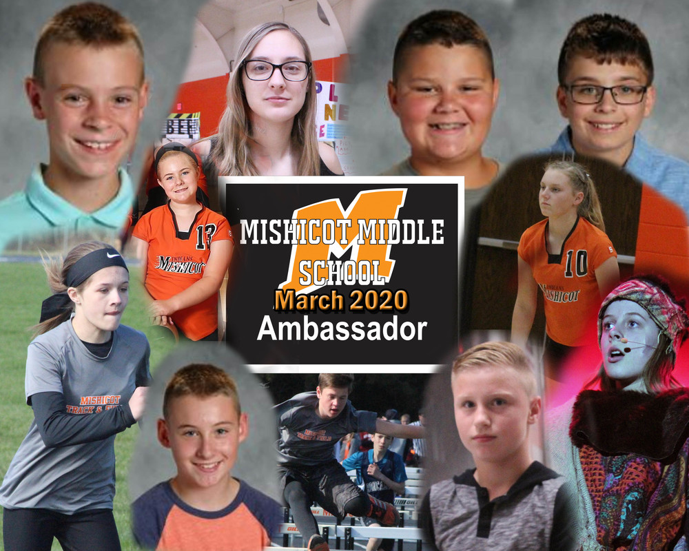 Middle School Ambassadors for March
