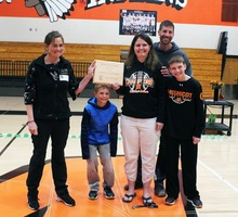 Armbruster accepts School Forest Award