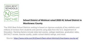 School District of Mishicot rated 2020 #1 School District in Manitowoc County