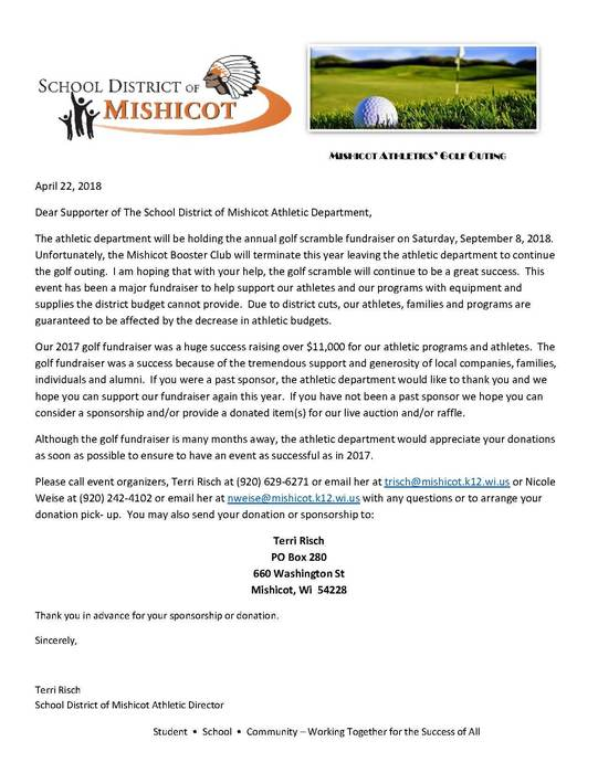 Golf Scramble Letter